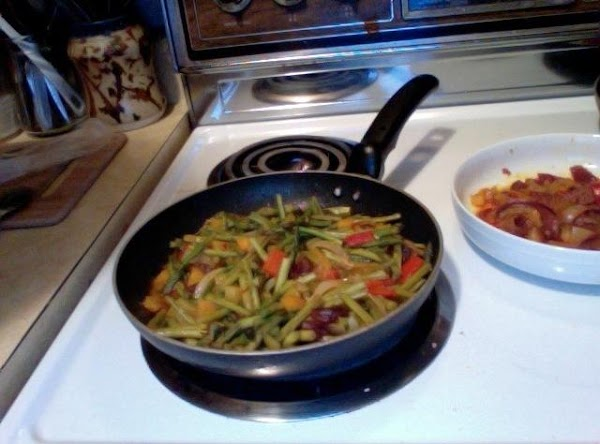 Asparagus Tips & Mom's Hotdog Onions Recipe