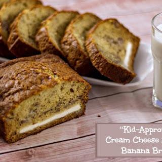 """Kid-Approved"" Cream Cheese Stuffed Banana Bread"