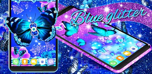 Blue glitter butterflies live wallpaper - Apps on Google Play