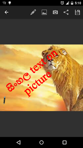 sinhala text on picture