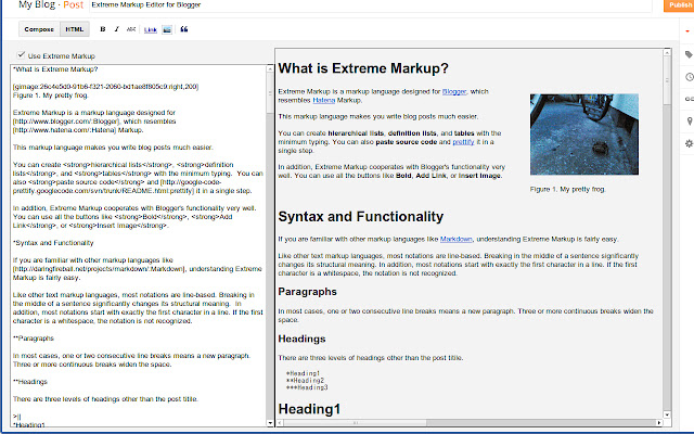 Extreme Markup Editor for Blogger™