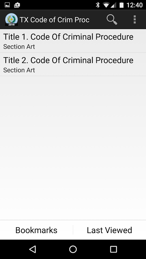 2016 TX Code of Criminal Proc- screenshot