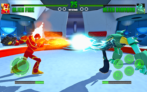 Hero Alien Force Arena Attack Mega Transform War 4