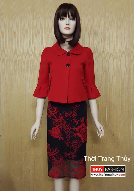 Áo khoác nữ dáng ngắn cổ cánh sen V510 Hải Phòng