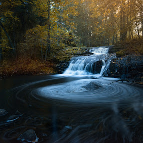 Spinning  by Thomas Bjørnstad - Landscapes Forests ( forest waterfall water )