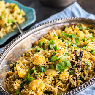 Cauliflower Peas Pulao
