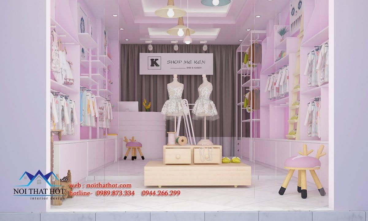 thiết kế cửa hàng trẻ em shop me ken 1