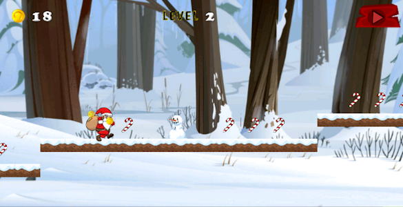 Santa Surfer Xmas Running game screenshot 1