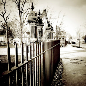 Entrance by Brittany Humphrey - City,  Street & Park  Historic Districts ( park, cemetery, october, entrance, city )