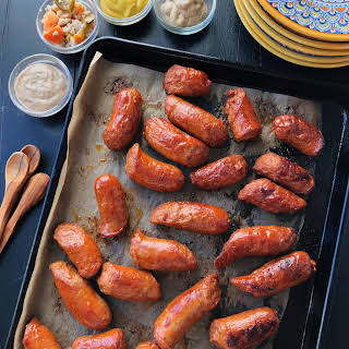 Oven Roasted Sausages.