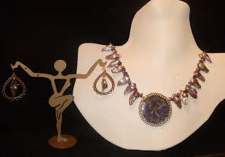 Photo: <BEREHYNYA> {Great Goddess Protectress} unique one-of-a-kind statement jewellery by Luba Bilash ART & ADORNMENT  STILL LIFE - НАТЮРМОРТ - vintage pendant with pressed & embedded violet, FW mussel pearls, amethyst, 14K gold vermeil, brass SOLD/ПРОДАНИЙ  http://www.wikihow.com/Clean-A-Pearl-Necklace