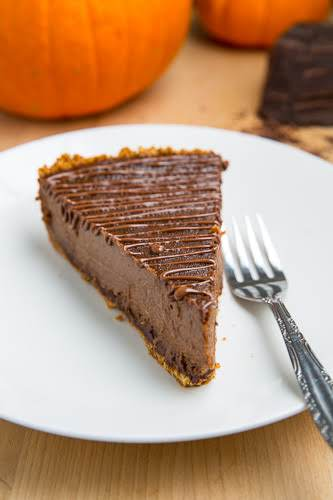 "Triple Chocolate Pumpkin Pie ""he first chocolate comes in the form of..."