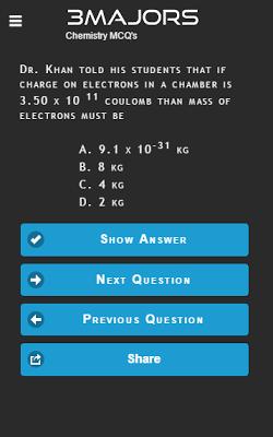 Chemistry MCQ - screenshot