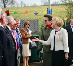 Photo: HRH shares a joke with Chairman of TRDC Les Mead and Councillor Peter Ruffles Vice Chair of HCC