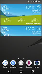 Sony Xperia Weather App 2
