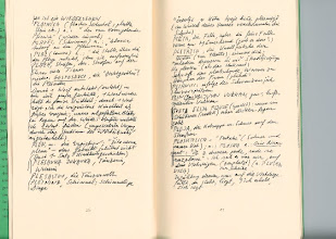 """Photo: HANDKE'S SLOVENIAN/GERMAN DICTIONARY, PREPARED DURING OR FOR THE WRITING OF """"THE REPETITION [MID-80S]"""