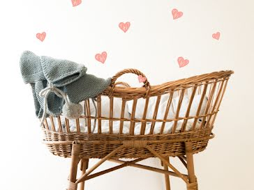 Baby Basket - New Baby Announcement template