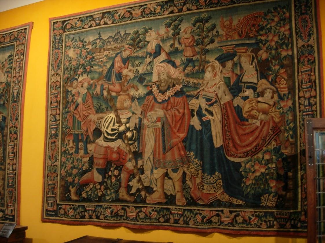 Tapisserie dans la Salle Saint-Louis de l'Hôtel-Dieu à Beaune
