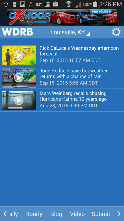 WDRB Weather App- screenshot