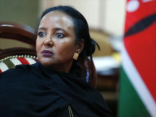 Education CS Amina Mohamed during the interview. January 15, 2018. Photo/Jack Owuor