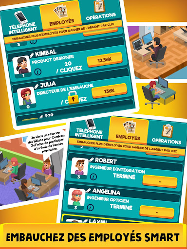 Idle Smartphone Tycoon: Portable clicker jeux tape  captures d'u00e9cran 2