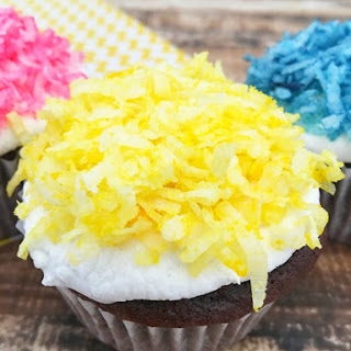 Spring Into Action Snowball Cupcakes