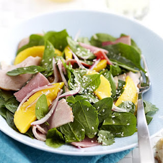 Turkey and Ham Salad with Mango Dressing