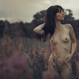 Pleasant summer evening by Dmitry Laudin - Nudes & Boudoir Artistic Nude ( nude, girl, nature, beauty, flowers, evening )