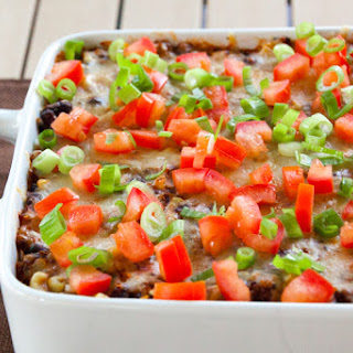 Cheesy Quinoa and Black Bean Casserole