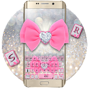 Glitter Pink Bow Keyboard