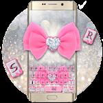 Pink Silver Luxury Bow Keyboard Theme Icon