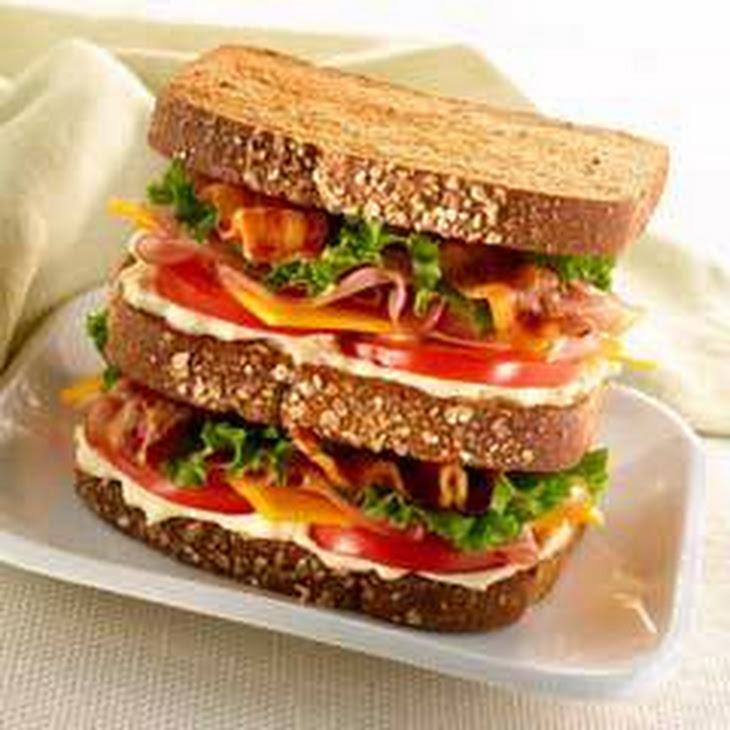 Honey Ham & Cheddar Triple Decker Recipe
