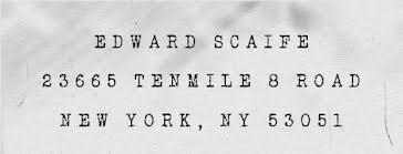 Edward Scaife - Address Label template