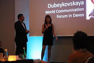 Photo: Yanina Dubeykovskaya, Content Director of World Commuication Forum in Davos