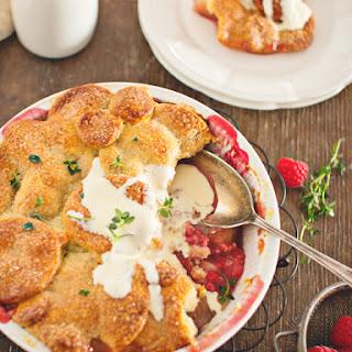 Nectarine, Raspberry and Chambord Pie