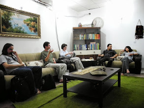 Photo: As guests at our friend - dr Ferhang Muhamad's - house.