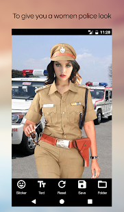 Women Police Photo Suit Editor - náhled