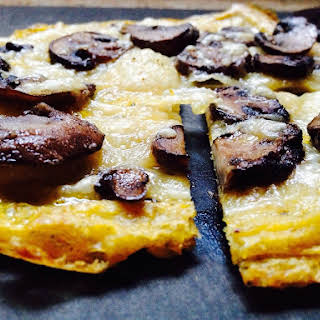 Mushroom & Gruyere Polenta Pizza.