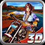 Racing Girl Moto Rider Icon