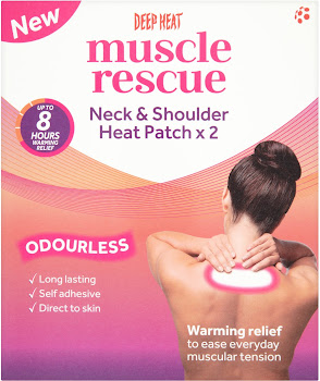Mentholatum Deep Heat Muscle Rescue 2 Neck and Shoulder Heat Patch - 2pk