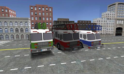 brandweerwagen spel parking