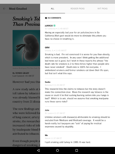 Screenshot 19 for The New York Times's Android app'