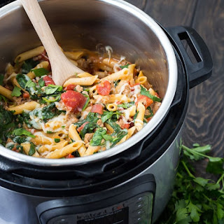 Instant Pot Pasta with Sausage, Spinach and Tomatoes Recipe