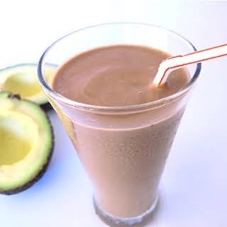 Chocolate Avocado Milkshake.