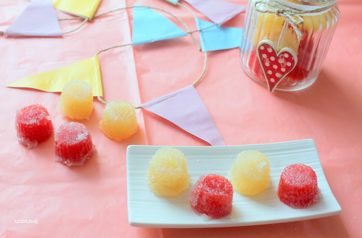 Apple and Strawberry Agar Jelly Recipe
