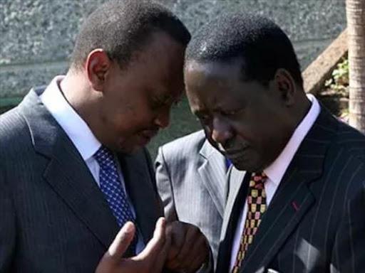 Image result for uhuru and raila