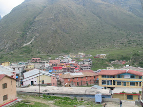 Photo: Badrinath temple in the vally