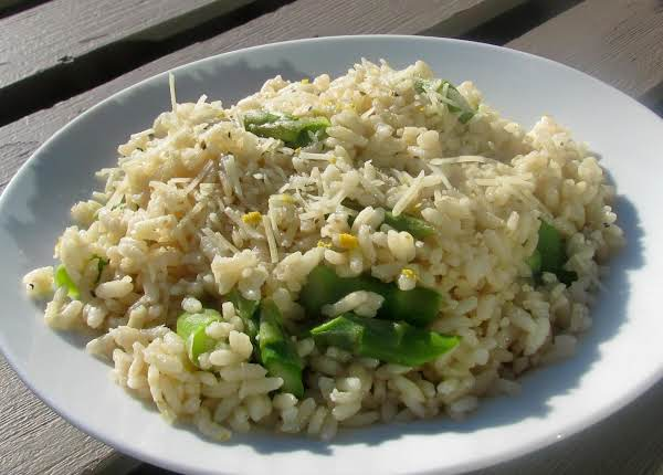 Microwave Asparagus And Lemon Risotto Recipe