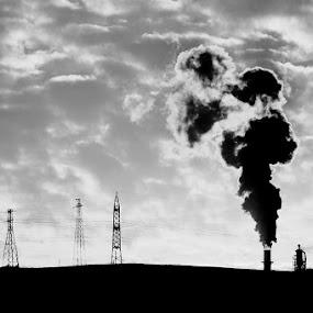 smoke by Adem Yağız - Black & White Landscapes ( sky, gebze )