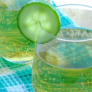 Sparkling Shamrock Cocktail.